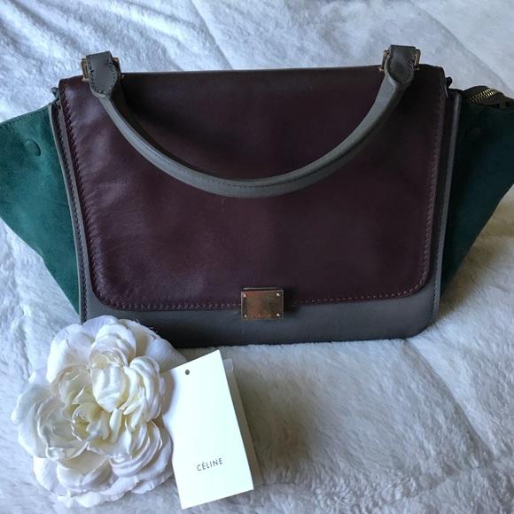 d990b7e7c9 Celine Trapeze luxury leather cross body bag